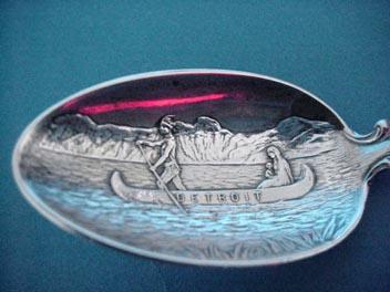 Souvenir Indian Spoon Pontiac 1763 Detroit