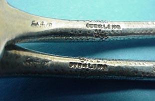 Eglantine Gorham Fish Forks Sterling Silver