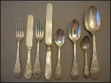 Moresque Wendt Set flatware Sterling Silver c 1873