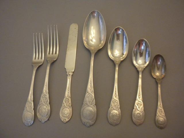 Moresque Wendt Set flatware Sterling Silver c 1873