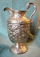 Repousse S. Kirk & Son Water Pitcher  11 oz. Silver