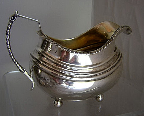 William Brown English Creamer 1777 sterling