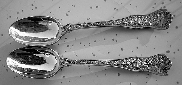 Tiffany Olympian 2 Oval Soup spoons Sterling