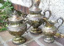 Ball Tompkins & Black Teapot Creamer & Sugar and Waste Bowl Coin Silver