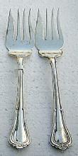 Norfolk Meat Forks Two  Gorham Sterling Silver