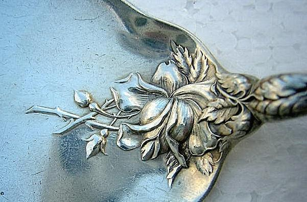 Bridal Rose Pie Server Alvin Sterling Silver