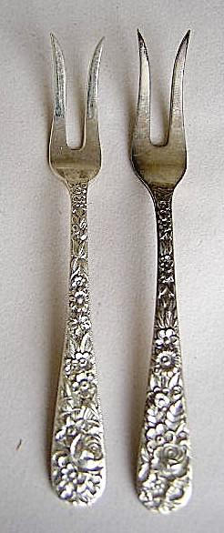 Repousse  Lemon - Butter forks Two  S. Kirk