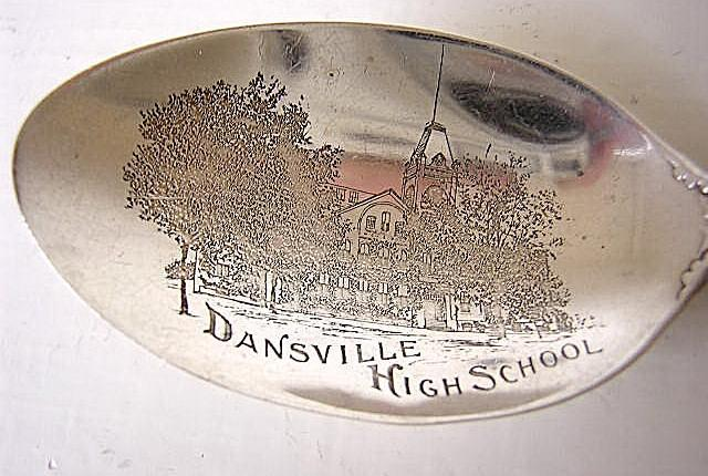 Souvenir Dansville NY High School Gorham Cambridge Sterling silver
