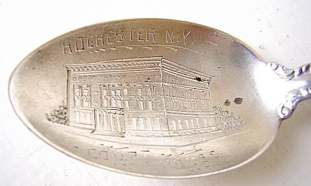 Souvenir Rochester NY Court House Alvin Florentine Sterling silver