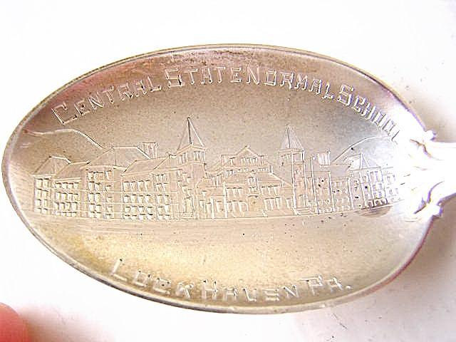 Souvenir Lockhaven PA Central State Normal School Sterling silver