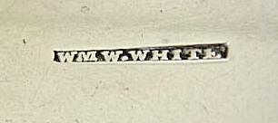 WmW White New York NY Coin silver teaspoon 1827- 1841