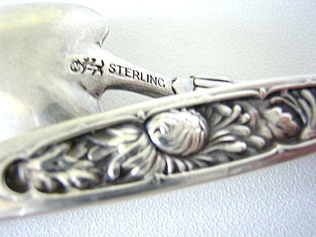 Chrysanthemum custom demitasse Spoon Whiting