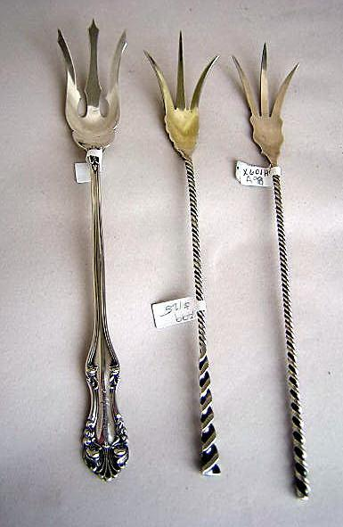 #128  Lettuce fork Towle  Sterling Silver Twist