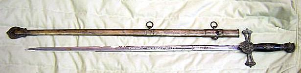 SWORD  engraved blade