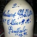 Stoneware Jug Buffalo NY Lyons pottery