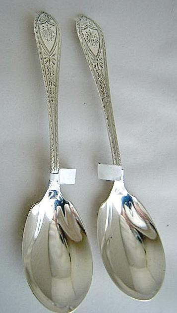 Berry Spoons Tiffany Sterling Silver Bright-cut