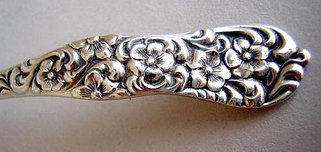 Rococo Mustard Ladle D & H sterling Silver