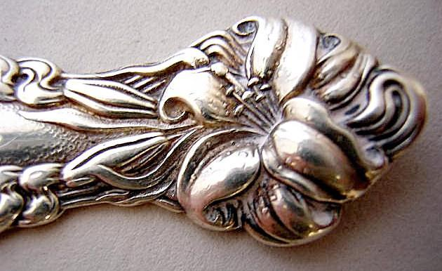 Frontenac Teaspoon Carrie lilies Art Nouveau International sterling silver