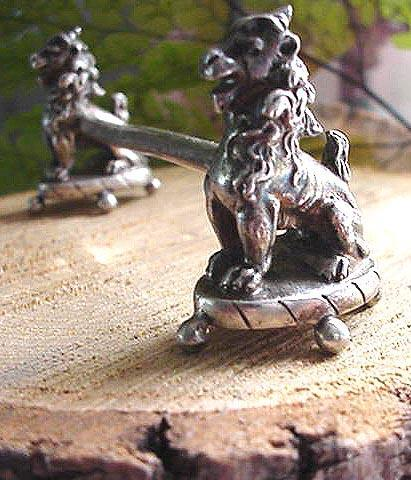 Knife Rest Gorham sterling Figural LIONS