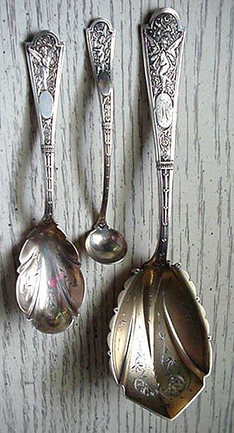 Cupid Albert Coles Berry Spoon sterling