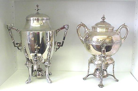 Hot Water Urn Silverplated cast Handles