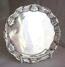 Salver Wm Peaston 1745 London sterling silver