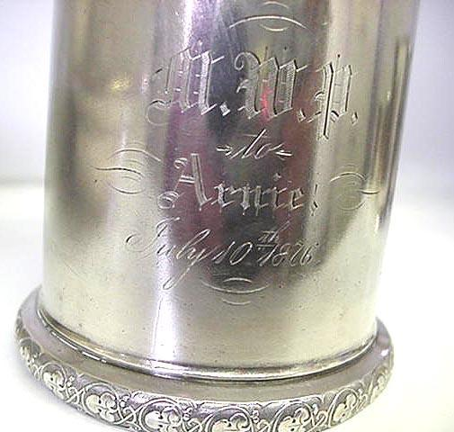 Baby Cup Gorham 1876 Centennial sterling
