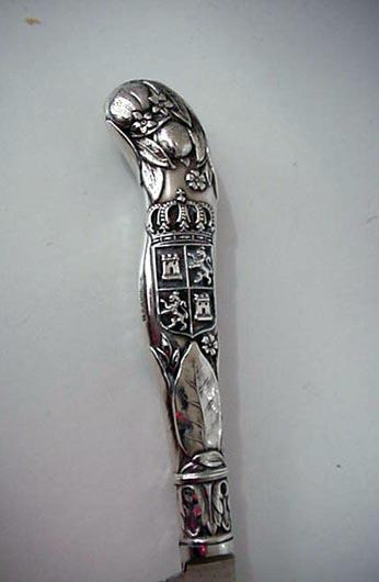 Orange Knifes Castle motif  Gorham sterling silver