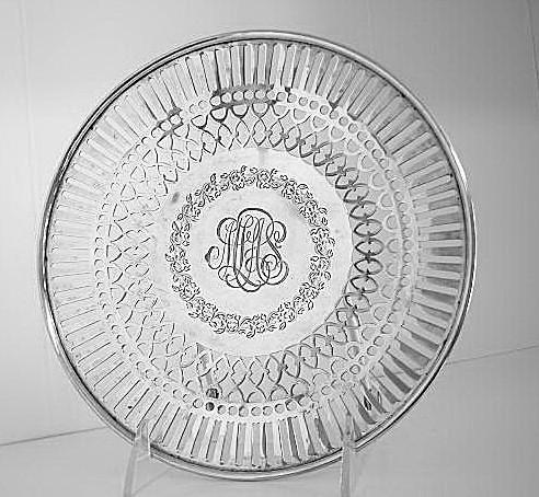 Pierced Border Tray   Sterling Silver