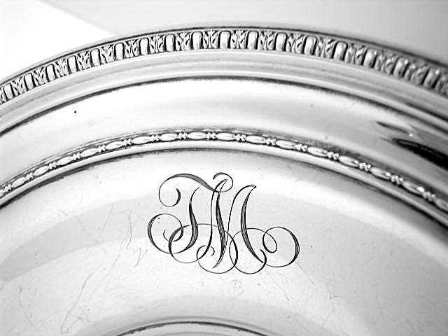 Tray Egg & Dart style Border Sterling Silver