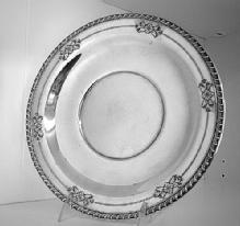 Gadroon & Flowers Border Tray Wallace Sterling