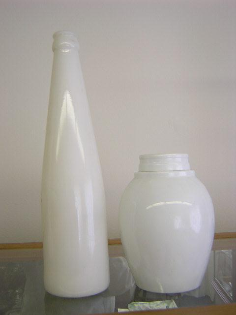 Barbers  Bottle Old milk glass 10