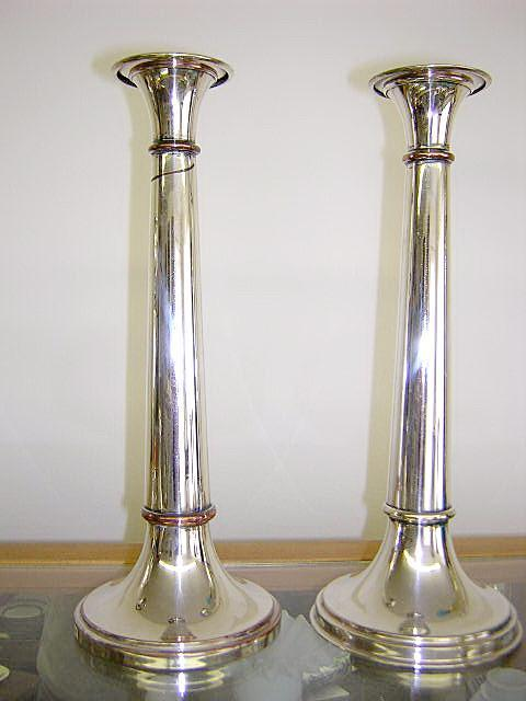 Candlesticks Sheffield Mixed metal copper bands