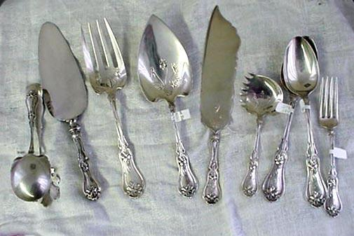 Violet Serving Spoon  Whiting Sterling silver