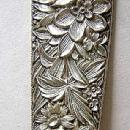 Repousse Berry Spoon  Kirk Sterling Silver Flowers and Berries in bowl