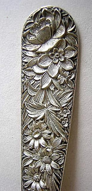Repousse Berry Spoon  Kirk Sterling Silver