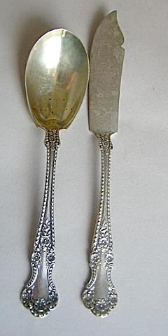 Cambridge Sugar Spoon Gorham Sterling Silver wild Roses