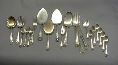 Bead Whiting  Salad Set Sterling Silver