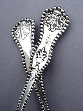 Charles II   9 Ice Cream Forks  D & H sterling