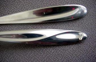 Silver Sculpture  Place Soup Spoons Reed &