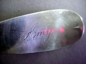 Souvenir Spoon Iowa Sterling Silver