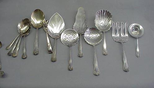 Lancaster Rose 6 gumbo Soup Spoons  Gorham