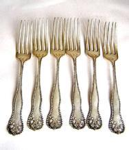 Lancaster Rose 6 Dinner Forks and 6 dinner