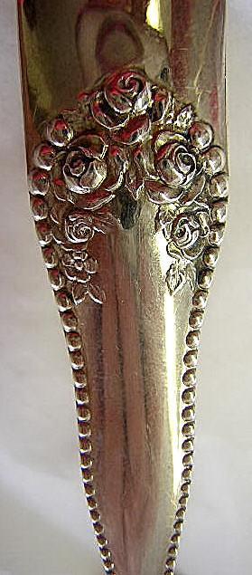 Lancaster Rose  Sugar spoon  Gorham Sterling