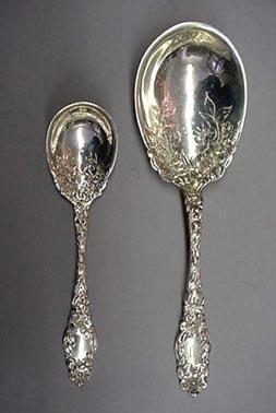 Blossom Berry Spoon D & H Sterling Silver