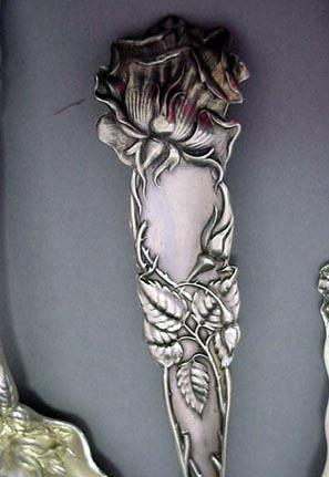 Bridal Rose large Berry Spoon Alvin Sterling