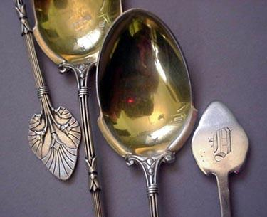 Lotus Whiting Ice Cream Server 12 spns sterling