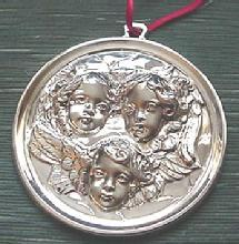 Christmas  Gorham Baroque Angel sterling orname