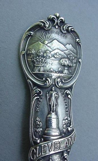 Souvenir spoon Watson Cleveland sterling