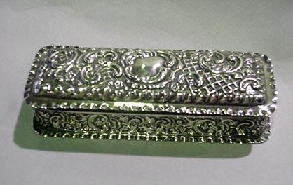 Box Ornate Repousse English c 1890's